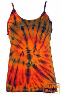 Farbenfrohes Goa-Batik Top, Batiktop - orange