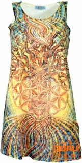 Psytrance Minikleid, Longtop - Blume des Lebens im Baum des Lebens