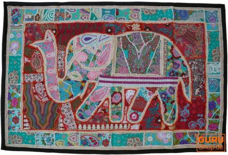 Indischer Wandteppich Patchwork Wandbehang, Einzelstück 150*100 cm - Muster 6