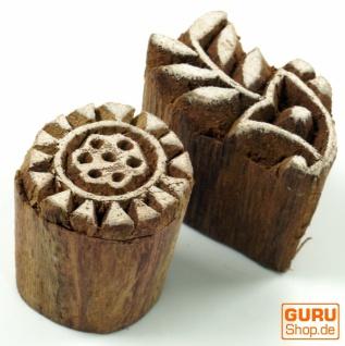 Indischer Textilstempel, Holz Stoffdruckstempel, Blaudruck Stempel, Druck Modell - Set 15