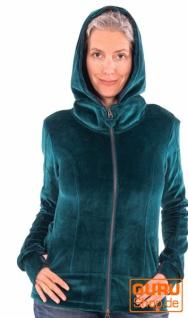 Jacke mit Kapuze aus Bio-Baumwolle / Chapati Design - petrol