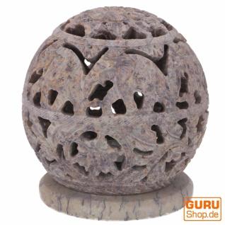 Indisches Duft Potpourri Behälter aus Speckstein, Teelicht - Kugel Elefanten - Vorschau 2