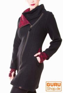 Kurzmantel aus Merino-Wolle / Chapati Design - black