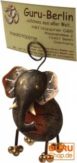 Visitenkartenhalter, Fotohalter `Elefant`