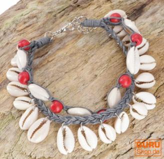 Perlenarmband, Muschel Makrameee Armband - Modell 4