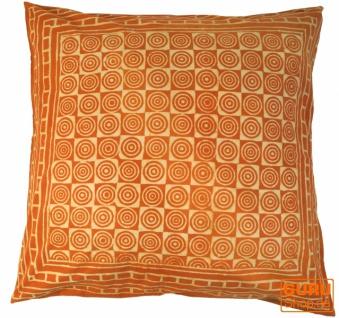 XL Kissenbezug Blockdruck, Kissenhülle Ethno, Dekokissen Bezug mit traditionellem Design - Muster 7