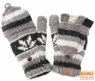 Handschuhe, handgestrickte Klapphandschuhe, Fingerhandschuhe - Modell 5