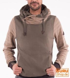 Pullover mit Kapuze aus Bio-Baumwolle / Chapati Design - olive