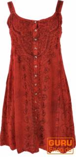 Besticktes indisches Minikleid Boho chic, Hippie Tunika - rot/Design 10