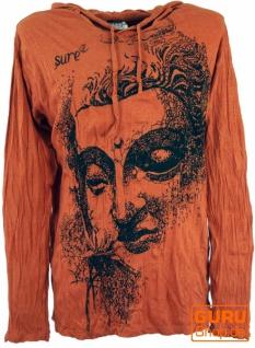 Sure Langarmshirt, Kapuzenshirt Dreaming Buddha - rostorange