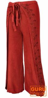 Palazzohose, langer Boho Hosenrock, Wickelhose, Sommerhose rot - Modell 2