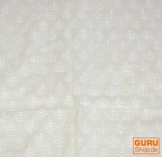 dünnes Tuch, Sarong, Wandbehang, Wickelrock, Sarongkleid - weiß - Vorschau 3