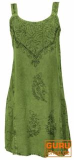 Besticktes indisches Minikleid Boho chic, Hippie Tunika - grün Design 16