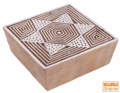 Indischer Textilstempel, Stoffdruckstempel, Blaudruck Stempel, Holz Model - 7*7 cm Stern 1