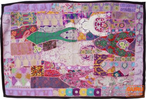 Indischer Wandteppich Patchwork Wandbehang, Einzelstück 150*100 cm - Muster 45