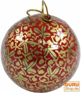 Upcyceling Weihnachtskugel aus Pappmachee, Handbemalter Christbaumschmuck, Kaschmirkugeln - Muster 12