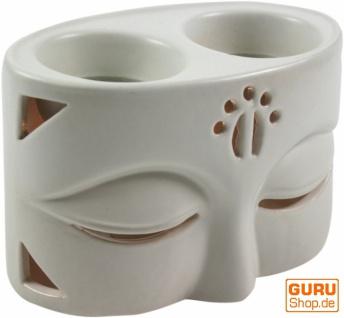 Keramik Duftlampe - Buddha 2 weiß