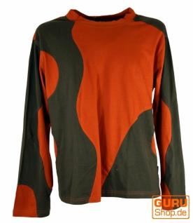 Sweatshirt Hippie Goa - rostorange/braun
