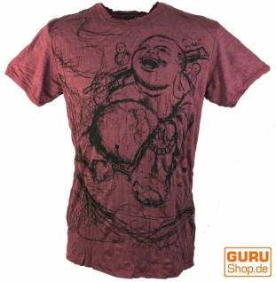 Sure T-Shirt Happy Buddha - bordeaux
