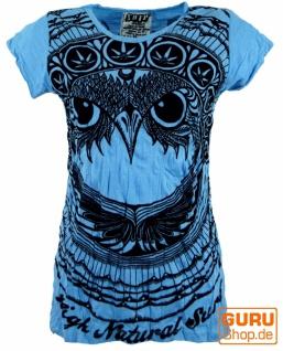 Sure T-Shirt Eule - hellblau