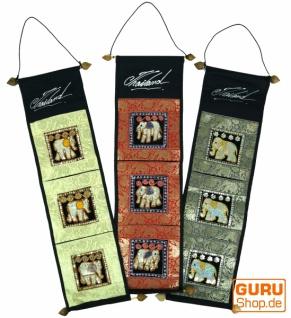 Brokat Wandtasche mit 3 Fächern aus Thailand - Muster 2