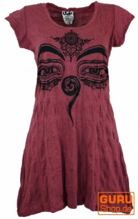 Sure Long Shirt, Minikleid Buddhas Augen - bordeaux