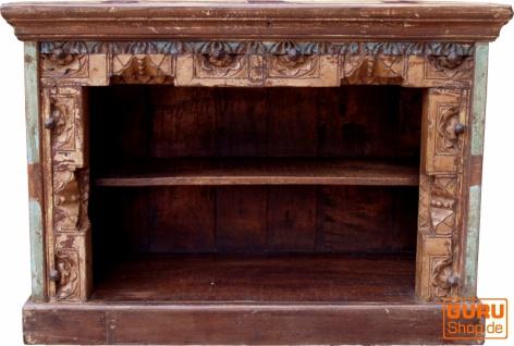 Kleine Kommode, Bücherregal, offenes Sideboard, Fernsehtisch, Vintage Look mit Verzierungen - Modell 12