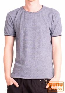 T-Shirt aus Bio-Baumwolle / Chapati Design - blue jeans