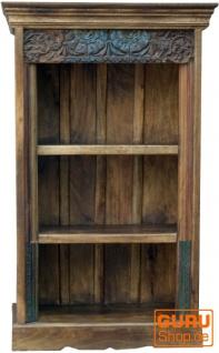 Rustikales Bücherregal, Massivholz, Nachttischschrank, Flurschrank - Modell 15