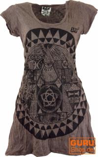 Sure Long Shirt, Minikleid Mandala - taupe
