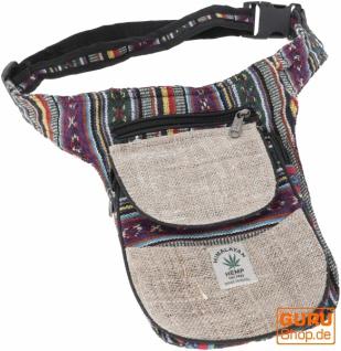 Hanf Ethno Sidebag, Nepal Gürteltasche - Modell 10