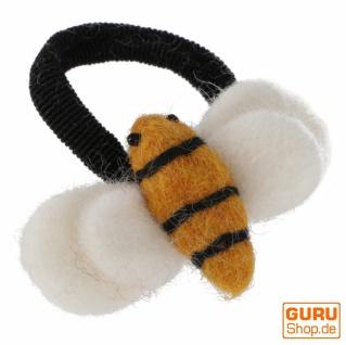 Filz Haargummi - Bienchen