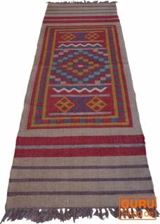 Orientalischer grob gewebter Kelim Teppiche 250*80 cm - Muster 9