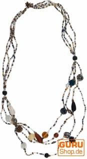 Modeschmuck, Boho Perlenkette - Modell 17