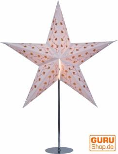 Ständer für Faltbarer Advents Leucht Papierstern, Weihnachtssterne Edelstahl