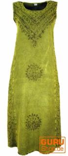 Besticktes Boho Sommerkleid, indisches Hippie Kleid - lemon/Design 4