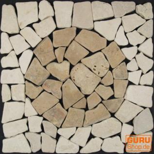 Mosaikfliese mit Kreis aus Marmor (Mo-07) - Design 19