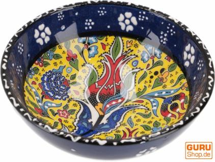 1 Stk. Orientalische Keramikschüssel, Schale, Müslischale, handbemalt - Ø 12 cm / Model 23