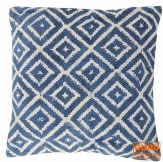 Gewebter Kelim Kissenbezug Blockdruck, Dekokissen Bezug, Boho Kissen traditionelle Herstellung - Muster 2