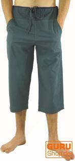 3/4 Yogahose, Goa Hose, Goa Shorts - blaugrau