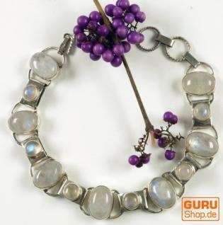 Indisches Silber Armband Mondstein