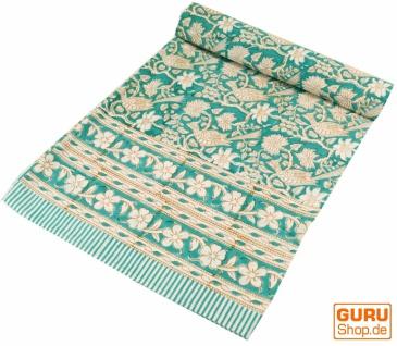 Blockdruck Tagesdecke, Bett & Sofaüberwurf, handgearbeiteter Wandbehang, Wandtuch - Design 15
