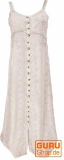 Besticktes Boho Sommerkleid, indisches Hippie Trägerkleid - beige/Design 20