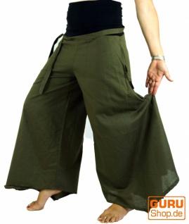 Goa Wellness, Hippie Hose, Boho Schlaghose - olive