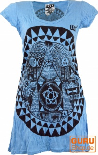 Sure Long Shirt, Minikleid Mandala - hellblau
