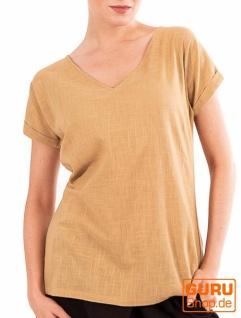T-Shirt aus Bio-Baumwolle / Chapati Design - beige