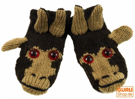 Kinderhandschuhe, Tierhandschuhe Affe - Vorschau