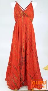 Batik Maxikleid, Strandkleid, Sommerkleid, langes Kleid - rot