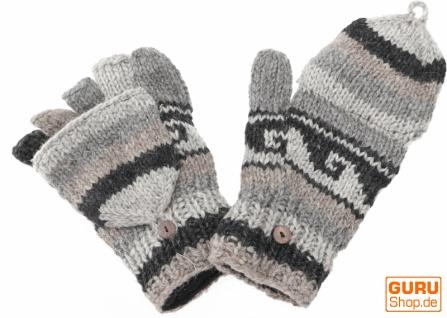 Handschuhe, handgestrickte Klapphandschuhe, Fingerhandschuhe - Modell 2