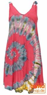 Batik Tunika, Hippie chic, Strandkleid, Sommerkleid - himbeerrot